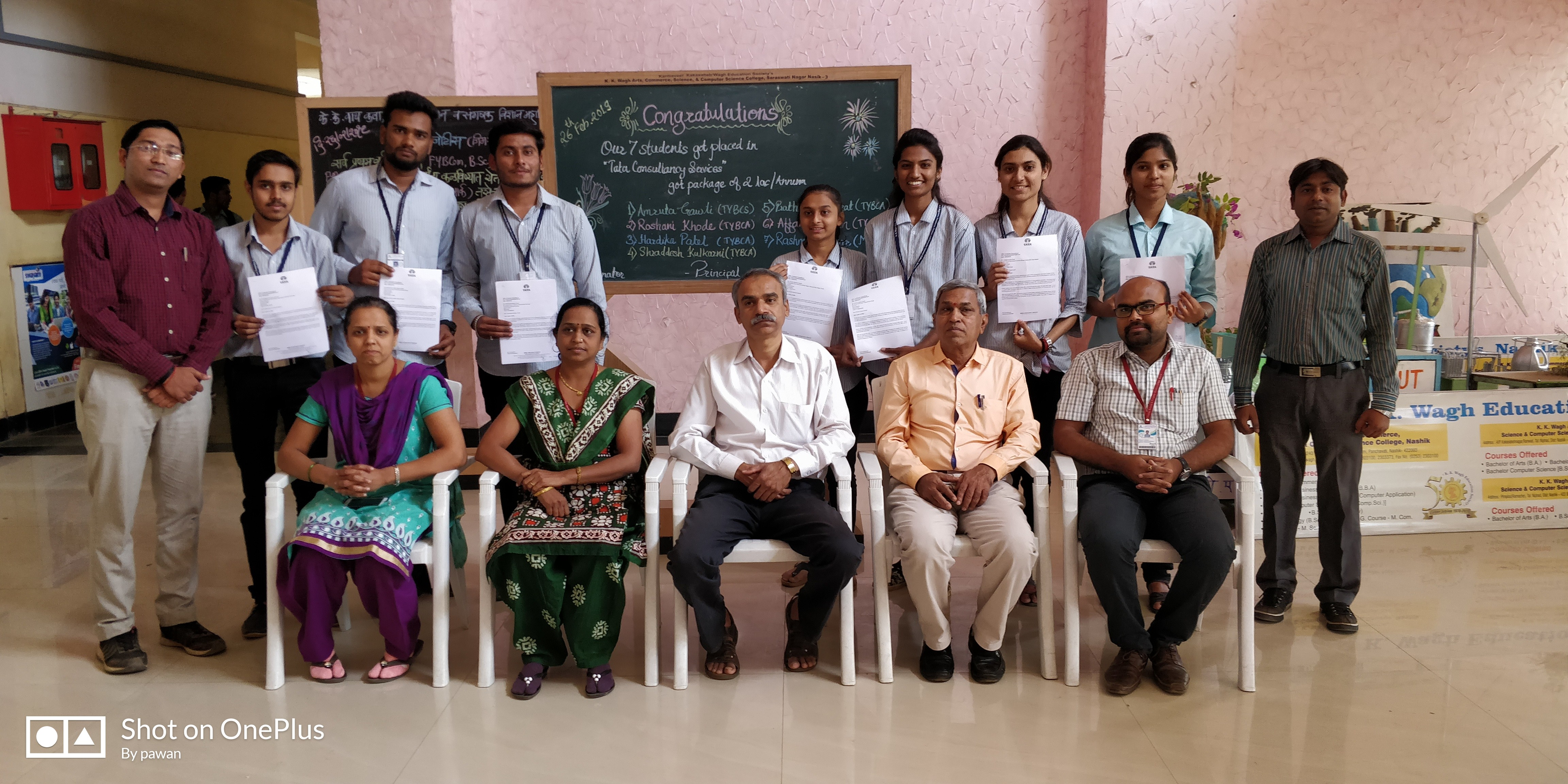 8 Students selected in  TCS