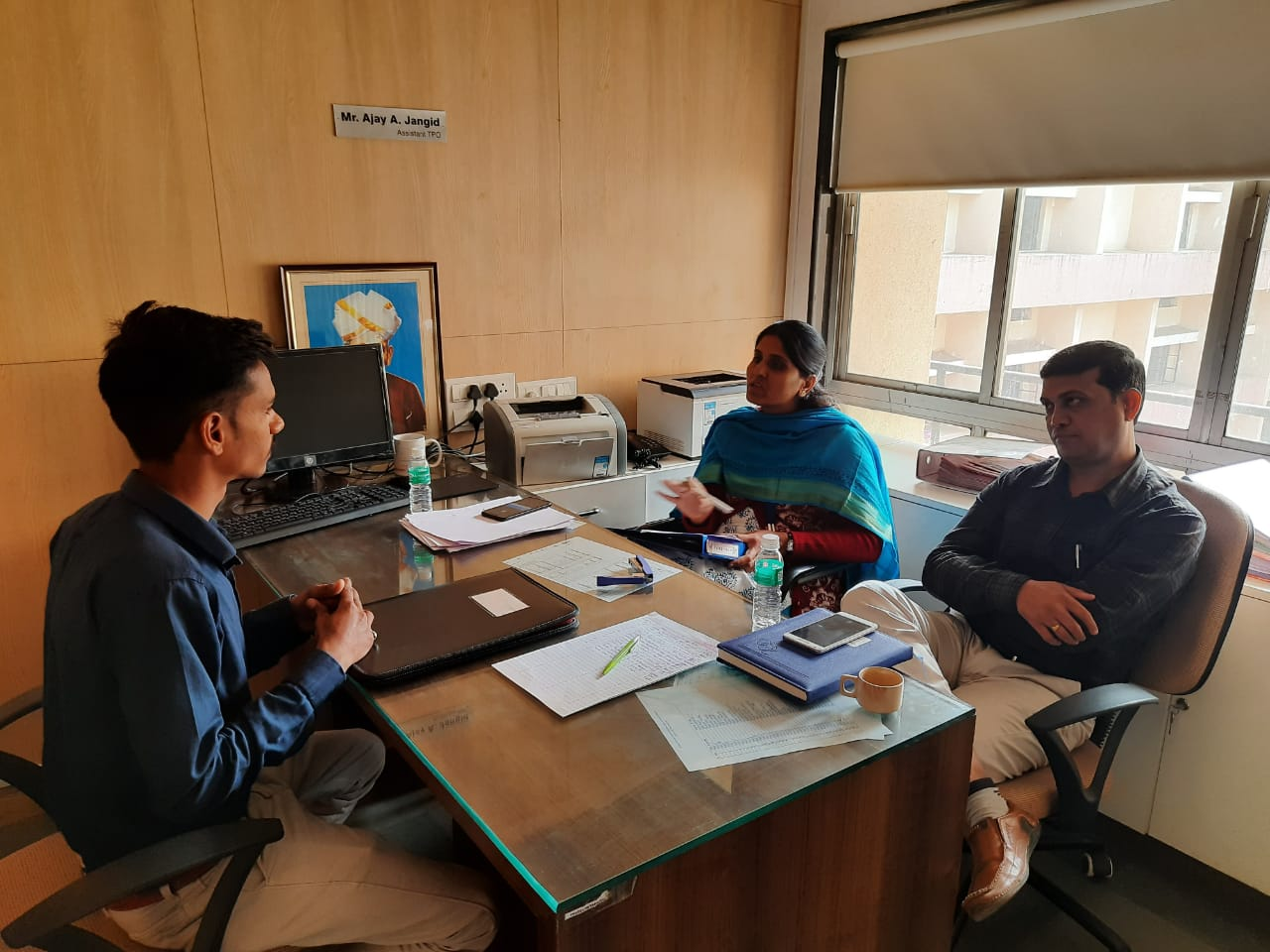 Science Faculty Vishwas Coop Bank Campus Drive  on Date 11/02/20 at  KKW Eng. Campus